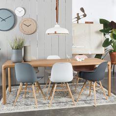 Chaise en polypro pieds frêne (par 2) Albert Kuip Zuiver
