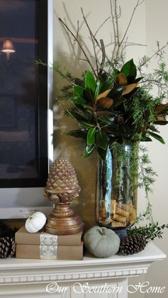Easy Fall Vignettes   How to Decorate for Fall