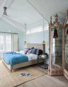 bleu glacier en tant que couleur de peinture pour chambre romantique et élégante