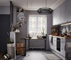 Une cuisine en noir mat