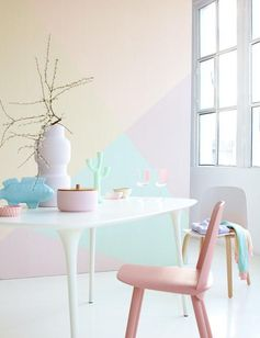 Love the pastel wall