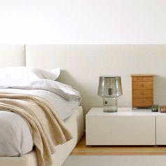 Tête de lit pour lit double / contemporaine / en tissu / tapissée - Woodnotes