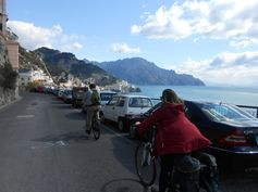 Descending the coast road towards Amalfi.