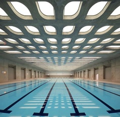 Beautiful roof for the swimmers in the Olympic Games in London 2012.