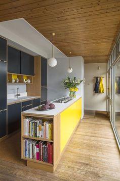 Idee Rangement livres de cuisine dans une niche