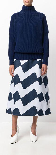 VICTORIA BECKHAM  striped skirt, explore new season clothing on Farfetch.