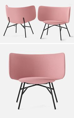The Stella Lounge Chair Has A Curved Backrest That Creates A Cheerful Shape