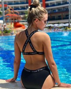 Poolside with Guess #LoveGuess #GUESSswim