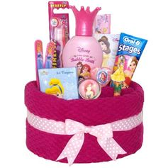 Princess Towel Cake for Girls. What a cute gift idea for little cousins.