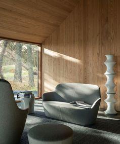 Harbor sofa. Photo credits: Salva Lopez #naotofukasawa #harborsofa #bebitalia #furnituredesign