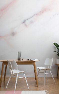 textura de mármol murales son, y han sido desde hace algún tiempo, una tendencia muy importante en el mundo interior, ya que proporcionan las personas con exactamente eso - una auténtica pared con textura de mármol que es fácil de instalar y mucho más agradable y económico que el mármol real. La tendencia mural de mármol es una de las tendencias más fiables para interiores. Son piezas atemporales de arte. #interiordesign #accentwall #marble