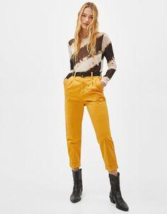 Tie-dye tulle T-shirt | Bershka  #newin #trend #trendy #cool #fashion #outfit #ideas #inspiration #look #woman #mujer #new #in #bershka #bershkacollection #moda #tiedye #desteñido #tendencia #trend