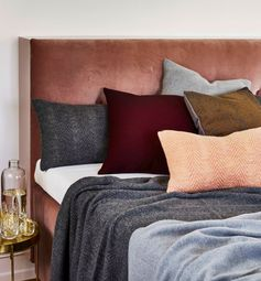Velvet headboard and terracotta tones add warmth and a feeling of coyness to this room, using velvet and terracotta, two of our picks for the top 10 trends for 2017 - read the full feature over on The Maker Place for more design inspiration.