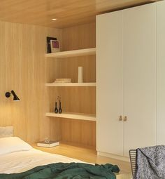 Bedroom Design Idea – Create A Built-In Bed Within A Wood-Lined Niche