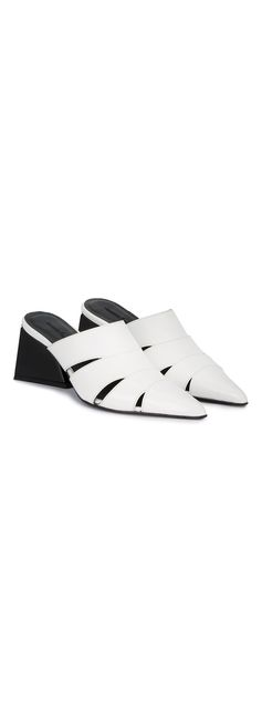 MARQUES'ALMEIDA cut out pointed toe mules, explore new season shoes on Farfetch.