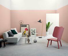 couleur de peinture tendance 2018 rose millenial