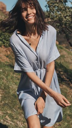 Soft silhouettes in a classic white-and-blue palette: get ready for long weekends and sun-drenched escapes with these love-forever getaway pieces. See more online & in store.