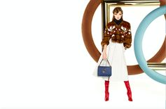 Gigi Hadid in Fendi Fall/Winter2017-18 by Karl Lagerfeld for the new Fendi advertising campaign.