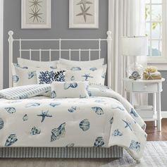 Harbor House Beach House Comforter Set (Full-Blue), Blue