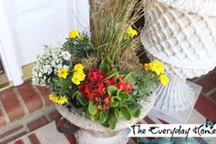 A Southern Front Porch Decorated for Spring at The Everyday Home Blog