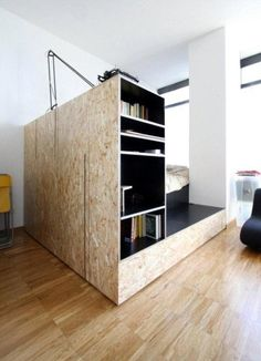 Séparation en OSB / OSB to make a nook at home