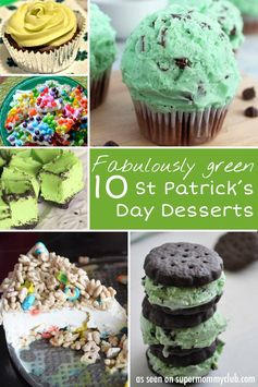Oh my these St Patrick's Day desserts look DELICIOUS!