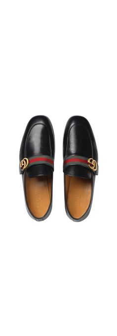 Gucci leather loafers with GG