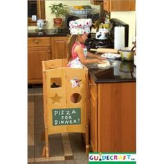 Teaching kids about kitchen and food safety.