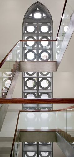 Renovation of Metropolitan Seminar, Zaragoza, 2009 #architecture #stair #interiors #vwindow