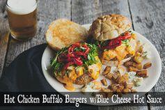 Hot Chicken Buffalo Burgers w/ Blue Cheese Hot Sauce Recipe – JM Thomason - Gourmet Seasonings & Spices