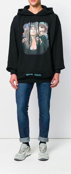 OFF-WHITE vampire print hoodie, explore new season now on Farfetch.