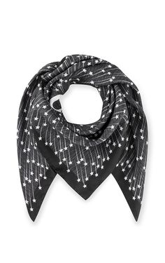 Cut from pure silk, this scarf features a falling star motif exclusively created for Escada. The iconic logo appears at the center of this fluid, lightweight style that comes in a versatile square shape.