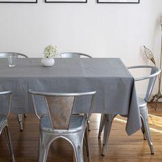 Nappe en coton enduit couleur unie gris Colorama
