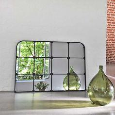 Miroir fenêtre paysage en métal noir decoclico Factory