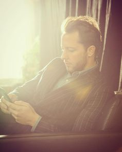"""Finished modeling and back to my day job: looking at my phone all day."" Thanks for the takeover, Derek Blasberg!"
