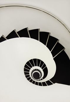 Coil & Stairs | Black & White