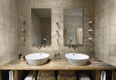 Carrelage sol et mur ivoire effet ciment Arlequin l.20 x L.20 cm #leroymerlin #salledebain #carrelage #carreaudeciment #tendance