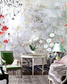Inspiration: le papier peint végétal—Pinterest @frankidurbin Pour en savoir plus, cliquez ici.