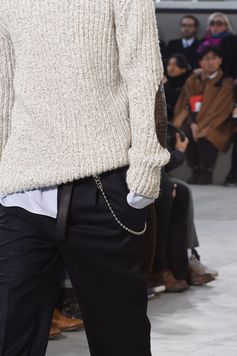 Closer look at the details from the Louis Vuitton Fall-Winter 2017 Fashion Show by Men's Artistic Director Kim Jones, presented in the Palais Royal in Paris, France.