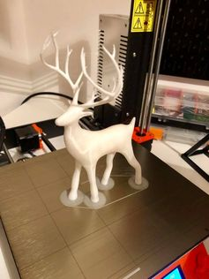Christmas is coming 🙂 I was thinking what I could start printing for this year and found these lovely models. Probably most of you might already have tried it before but I like how it looks after priming with a black spray. It's still great in white. #toysandgames #prusai3