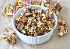 Take movie nights or game day snacks to the next level with this Twix Caramel Popcorn mix.