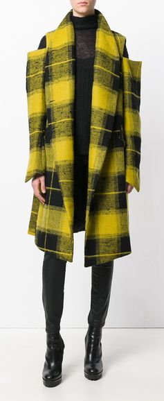 LOST & FOUND RIA DUNN checked cut out coat, explore new season coats on Farfetch now.