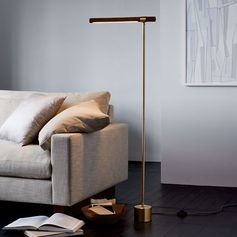 Linear Wood LED Floor Lamp 46 inches tall don;t love the wood