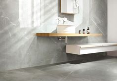 Carrelage sol et mur gris effet marbre Rimini l.30 x L.60 cm #leroymerlin #marbre #carrelage #ideedeco #madecoamoi
