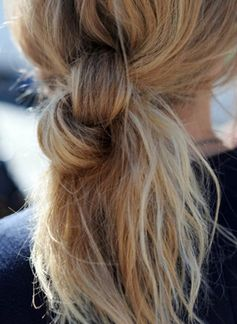 Hairstyles for Girls Who Can't Style Their Hair | Knotted Messy Bun