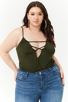 Plus Size Surplice Cami