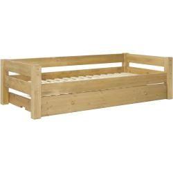 Massivholz Kinderbett Mit Gastebett Zum Ausziehen 211 X 101 X 59