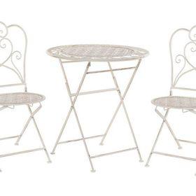 Balkonset Beige 2 Stuhle Klapptisch Metall Trieste Table Home