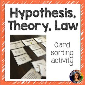Theory Hypothesis And Law Card Sorting Activity Sorting Activities Middle School Science Resources Science Lessons