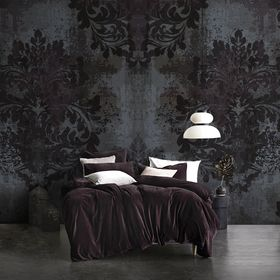 Damask peel and stick wallpaper